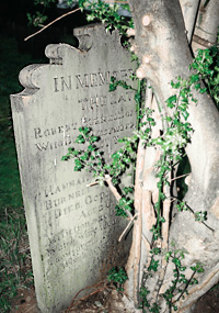 Gravestone of Robert and Hannah Burnell